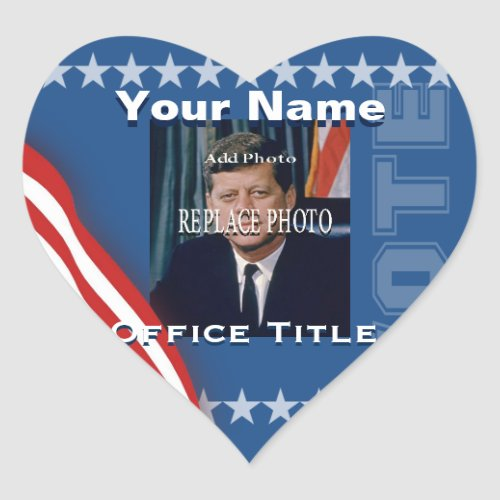 Replace Photo  Campaign Template Heart Heart Sticker
