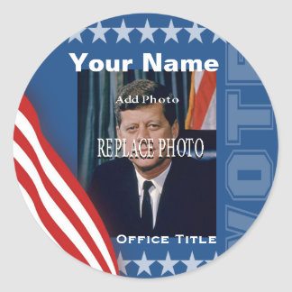 Replace Photo | Campaign Template Round Classic Round Sticker