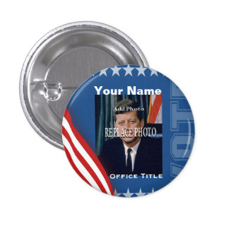 Replace Photo | Campaign Template Round Pinback Button