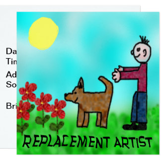 Replacement Artist Card