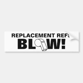Replacement Refs Blow! Car Bumper Sticker