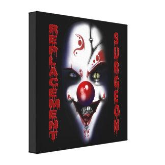 Replacement Surgeon - Evil Clown Canvas Print