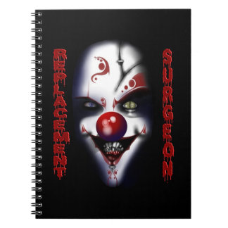Replacement Surgeon - Evil Clown Spiral Note Books