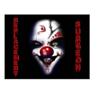 Replacement Surgeon - Evil Clown Postcard