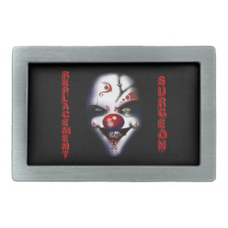 Replacement Surgeon - Evil Clown Rectangular Belt Buckle