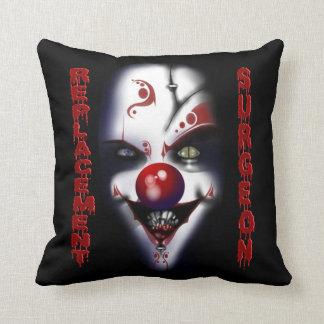Replacement Surgeon - Evil Clown Throw Pillow