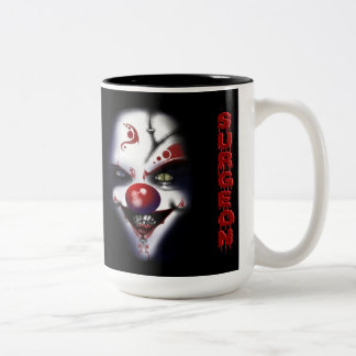 Replacement Surgeon - Evil Clown Two-Tone Coffee Mug