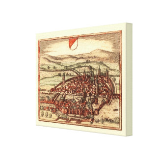 Replica Antique map of Zurich 1581 Stretched Canvas Prints