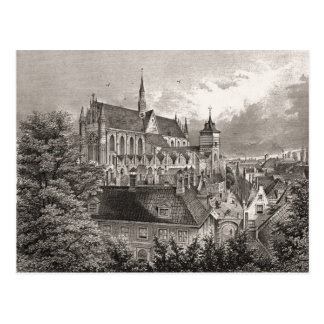 Replica antique print, Leiden Postcard