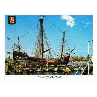 "Replica Caravel, ""Santa Maria"" Post Cards"