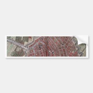 Replica city map of Amsterdam 1652 Bumper Sticker
