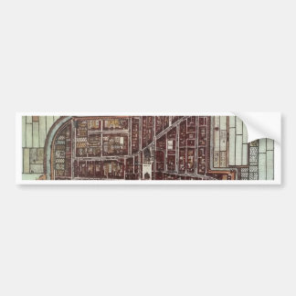 Replica city map of Delft 1649 Bumper Sticker