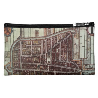 Replica city map of Delft from 1649 Cosmetic Bag