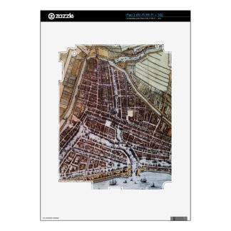 Replica city map of Rotterdam 1652 Decals For iPad 2