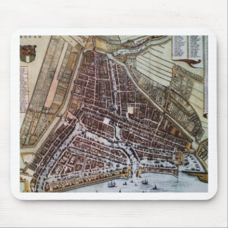 Replica city map of Rotterdam 1652 Mouse Pad