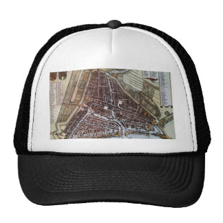 Replica city map of Rotterdam 1652 Trucker Hat