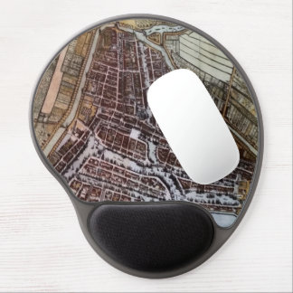 Replica city map of Rotterdam from 1652 Gel Mouse Pad