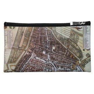 Replica city map of Rotterdam from 1652 Makeup Bag