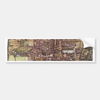 Replica city map of The Hague 1649 Bumper Sticker