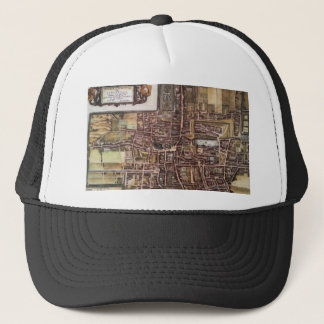 Replica city map of The Hague 1649 Trucker Hat