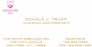 Donald Trump Business Cards Zazzle