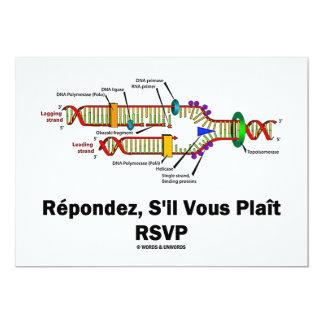 Réplica de la DNA de RSVP (actitud de la biología Invitación