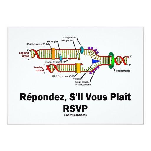 """Réplica de la DNA de RSVP (actitud de la biología Invitación 5"""" X 7"""""""