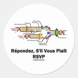 Réplica de la DNA de RSVP (actitud de la biología Pegatina Redonda