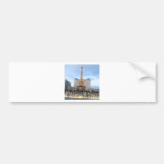 Replica EFFEL Tower VEGAS: Resorts Casinos Hotels Car Bumper Sticker