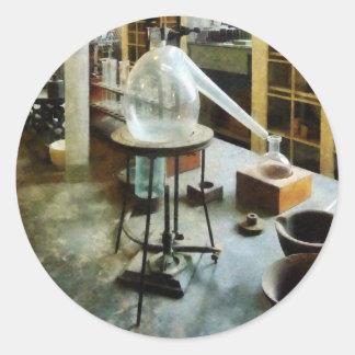 Réplica en el laboratorio de Chem Pegatina Redonda