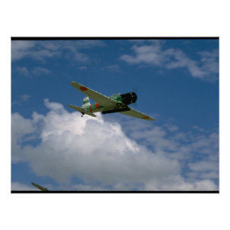 Replica Japanese Torpedo Bomber,Flying_WWII Planes Poster