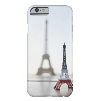 Replica of Eiffel Tower with original one in the Barely There iPhone 6 Case