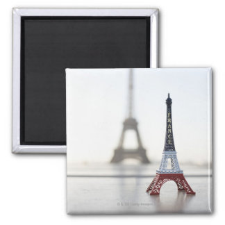 Replica of Eiffel Tower with original one in the Refrigerator Magnets