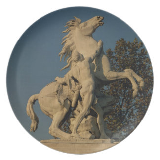 Replica of one of the two 'Marly Horses' originall Dinner Plate
