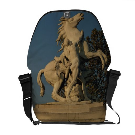Replica of one of the two 'Marly Horses' originall Messenger Bag