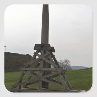 Replica of wooden trebuchet in Scotland Stickers