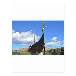 Replica Viking Longship Postcard