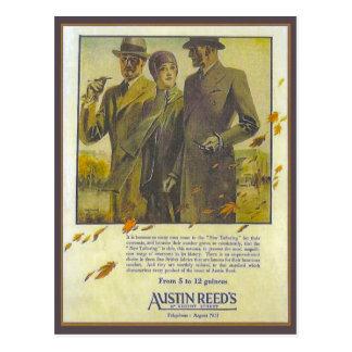 Replica Vintage advertising, Austin Reed, coats Postcard