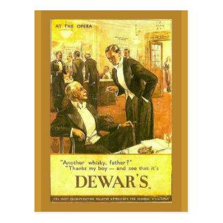Replica Vintage advertising Dewar s Whisky Postcard