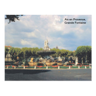 Replica vintage Aix en Provence Grande Fontaine Post Cards