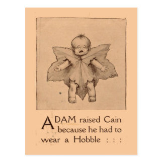 Replica Vintage Baby with a hobble Postcard