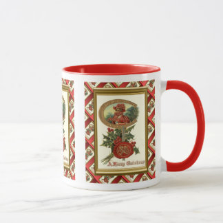 Replica Vintage Christmas, Deco lady, horseshoe, Mug