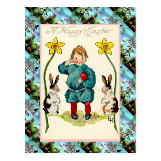 Replica Vintage Easter card, A Happy Easter Postcard
