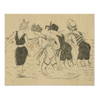 Replica Vintage France, Fun on the beach Poster