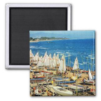 Replica Vintage France, Hyeres Port, Var, bateaux Fridge Magnets