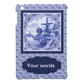 Replica Vintage image, Blue Delft tile design iPad Mini Covers