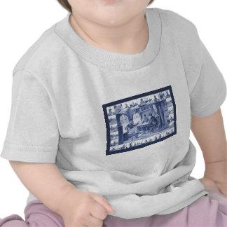 Replica Vintage image Blue Delft tile design Tee Shirts
