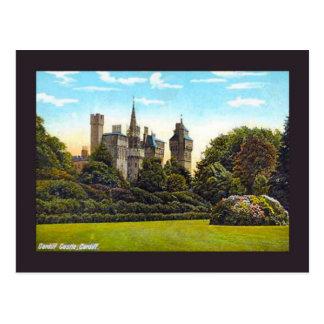 Replica Vintage Image, cardiff, castle Postcard