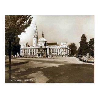 Replica Vintage Image, Cardiff, City Hall Postcard