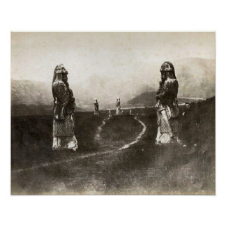 Replica Vintage image, Chinese stone warriors 1880 Poster